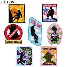 <b>ZOTOONE Iron on Letter</b> Patches for Clothes Backpack Applique ...