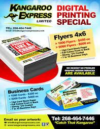 print specials flyers business cards kangaroo express print specials flyers business cards