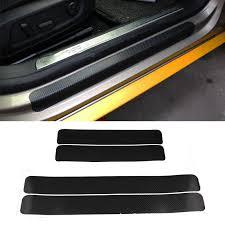 <b>4pcs</b>/<b>set Car</b> Stickers <b>Universal</b> Sill Scuff Anti Scratch Carbon Fiber ...