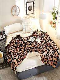 Buy 1 Pc <b>Blanket Multifunctional</b> Cozy <b>Leopard Pattern</b> Casual ...