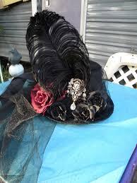 Victorian <b>Goth</b> Top Hat vampire cosplay <b>gypsy</b> roses <b>feather gothic</b> ...