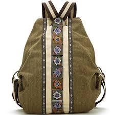 <b>Women Canvas Backpacks</b> Daypack Casual Shoulder <b>Bag</b>, Shool ...