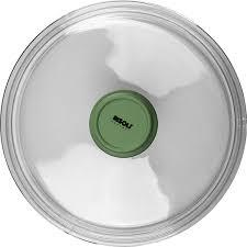 <b>Крышка</b> д/сковороды «Д. Грин»; стекло; <b>D</b>=<b>24см</b>; прозр., зелен.