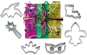 6 pc Mardi Gras cookie cutter set L9020: Kitchen ... - Amazon.com