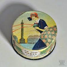 <b>Dorin</b> - <b>Un Air de</b> Paris powderbox France 1923   Vintage tins ...