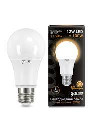 <b>Комплект</b> из 10 <b>светодиодных лампочек</b>, A60 12W E27 3000K ...