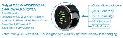 Moto LG OnePlus <b>Rapid</b> Charge 3.0 <b>Car Charger</b> 48W 6A Dual <b>QC3</b> ...