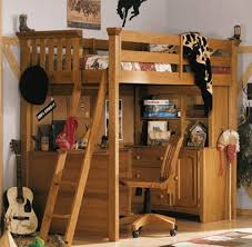 childrens combined bunk bed with desk compact casa kids nursery furniture