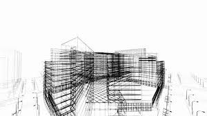 3d architecture abstract stock footage video abstractarchitectureblack and whiteblueprintbuilding exteriorbuilt structurebusiness finance and industry abstract 3d office building