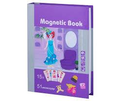 <b>Развивающая игрушка Magnetic</b> Book игра Кокетка 65 деталей ...
