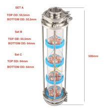 mini 3 76mm od91mm 99 9 red copper 2 pcs bubble plates distillation glass column for distillation