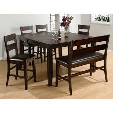 tall dining chairs counter: jofran rustic prairie  piece counter height dining set with bench walmartcom