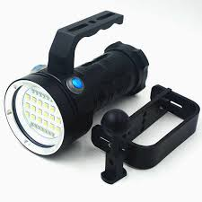 Rechargeable 25000LM <b>Underwater</b> Video Diving Flashlight Torch ...