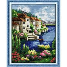 <b>Everlasting love</b> Beautiful view Chinese cross stitch kits Ecological ...