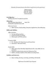 example resume without work experience   sample resume for little    example resume without work experience