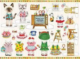 Paper Doll одежды платье <b>прелестный</b> маленький <b>кот</b> котенок ...