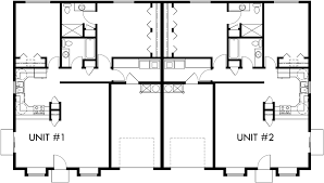One Story Duplex House Plans  Bedroom Duplex Plans  Duplex PlanMain Floor Plan for D  One story duplex house plans  bedroom