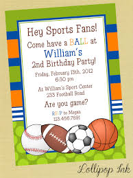 printable birthday invitations sports printable all sports birthday invitations