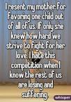 favoring