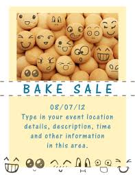bake flyers flyer designs happy face flyer