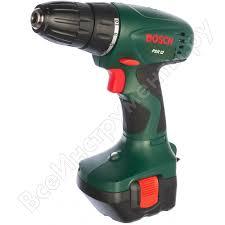 Аккумуляторная <b>дрель</b>-<b>шуруповерт Bosch PSR</b> 12 0.603.955.520 ...