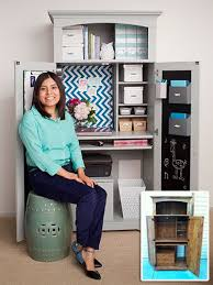 see how claudia used magnets to help organize and maximize her tiny office space armoire office desk