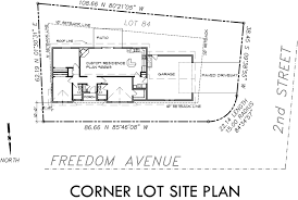 Single Level House Plans  Corner Lot House Plans Additional Info for Single level house plans  corner lot house plans  side load garage