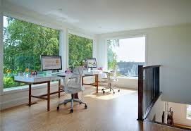 my houzz niagara vineyard renovation trendy home office photo in other with white walls and a home office early