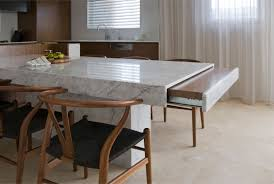 marble dining room table set luxury table  kitchen furniture glamorous beige table with black granite exce