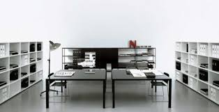 modern large design of the modern and beautiful office that has modern black floor that can black and white office decor