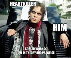 Easy on the eyes Uneasy on the heart - Ville Valo - quickmeme via Relatably.com