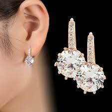 2018 <b>New Vintage Earrings</b> Rose Gold Crystal CZ Bling Drop ...