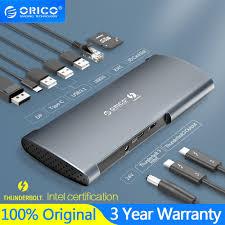 <b>ORICO</b> Thunderbolt 3 40 Gbps <b>Aluminum</b> Alloy Docking Station For ...