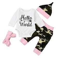 SHOBDW <b>Girls</b> Clothing Sets, <b>4PCS</b>/<b>Set Newborn Infant Baby Boy</b> ...