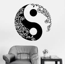 Mandala <b>Wall</b> Sticker Home Decal Buddha <b>Yin Yang Floral</b> Yoga ...