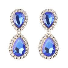 Shop <b>2019 Fashion vintage</b> za Full Crystal Drop Earrings Women ...