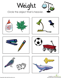 Measurement Worksheets | Education.comMath · Worksheet. Heavy or Light: Measuring Weight