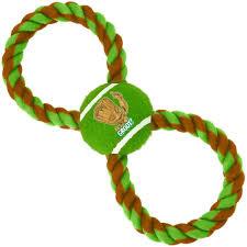 <b>Игрушка Buckle-Down Грут</b> зелёный мячик на верёвке для собак ...