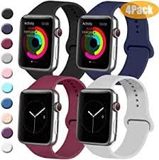 Tobfit 4 Pack Sport Bands Compatible with Apple <b>Watch Band</b> ...
