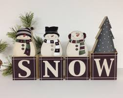 household dining table set christmas snowman knife: snowman snow block set christmas shelf decor fireplace mantel christmas decor snowman shelf decor snowman table decor happy snowmen