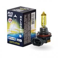 Галогенная <b>лампа AVS</b>/<b>ATLAS ANTI-FOG</b>/BOX желтый H8.12V ...