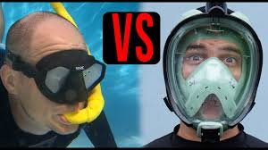 <b>Full Face Snorkel Mask</b> vs. Old Style Snorkel Mask Which is BEST ...