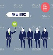 employment office giving green light to people for new jobs stock employment office giving green light to people for new jobs royalty stock vector art