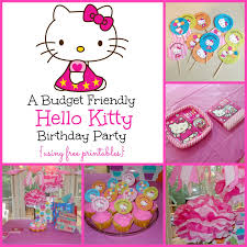 a super sweet hello kitty birthday party using printables