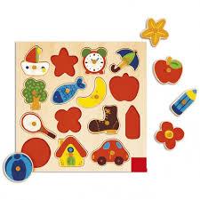 <b>Деревянная игрушка Goula</b> Рамка-вкладыш Силуэты ...