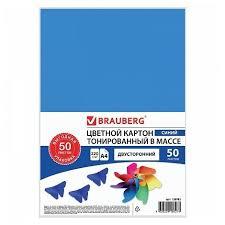 Цветной картон <b>BRAUBERG</b>, <b>A4</b>, <b>50 л</b>. — купить по выгодной ...
