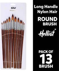 Helliot Artist Round Paint Brushes Set 13pcs, Soft Anti ... - Flipkart.com