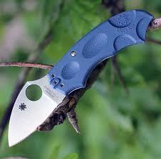 <b>Складной нож Meerkat</b> BLUE Spyderco C64PBLE, сталь V-Toku2 ...
