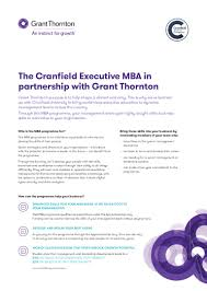 the grant thornton cranfield university executive mba