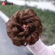 <b>AOSIWIG</b> Synthetic <b>Curly Chignon</b> Hairpiece for Women Elastic ...